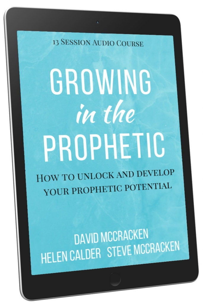 Device showing Growing in the Prophetic course available for download